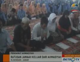 Ratusan Jemaah Ahmadiyah Masuk Islam Jemaah