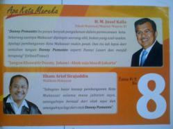 Foto Iklan Kampanye Ilham Arief Sirajuddin dan Jusuf Kalla. Sumber : tribunnews.com