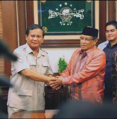 Capres Partai Gerindra, Prabowo Subianto, bersama Ketum PBNU, Said Aqil Siradj