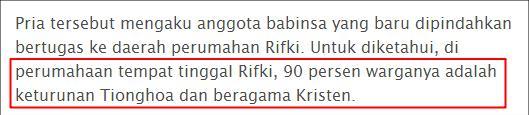 Sumber: Pernyataan Rifki di Kompas.Com, Kamis 5 Juni 2014