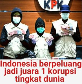 Indonesia berpeluang juara korupsi